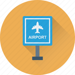 airport, airport sign, planes, signboard, transport icon