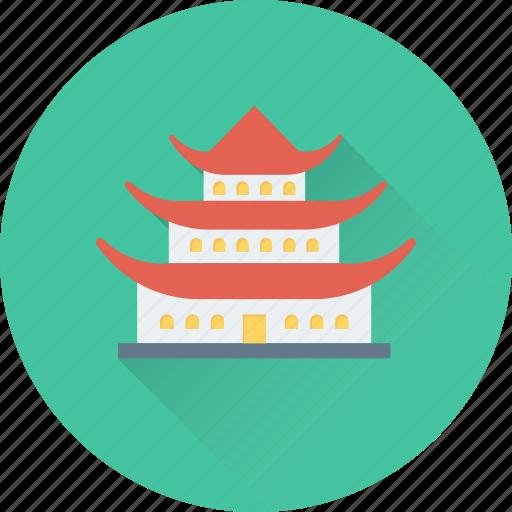 architectonic, landmark, monuments, osaka, osaka castle icon