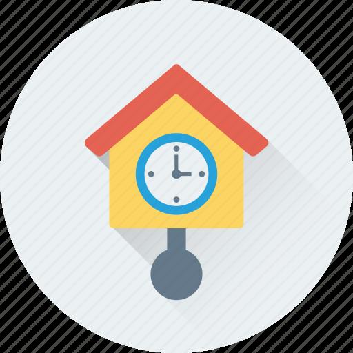 clock, cuckoo clock, grandfather clock, old clock, pendulum clock icon