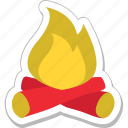 bonfire, campfire, camping, campsite, hiking icon