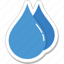aqua, droplet, drops, raindrops, water drops icon