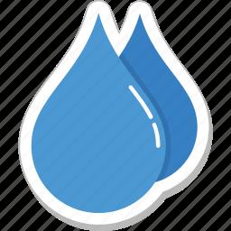 aqua, droplet, drops, raindrops, water drops icon