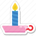 burning, candle, decoration, flame, lamp