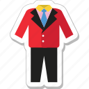 clothing, dressing, formal, suit, tuxedo icon