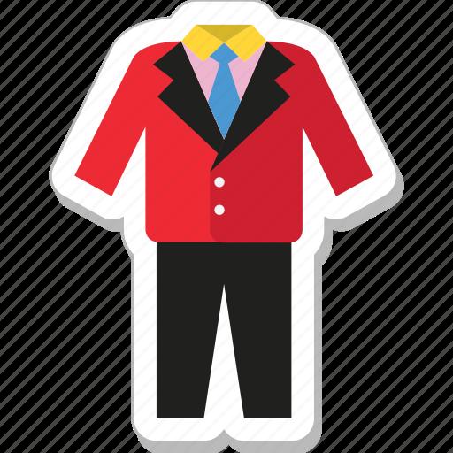 clothing, dressing, formal, suit, tuxedo icon