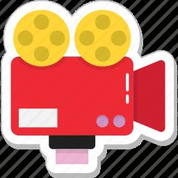 camera, movie camera, recording, shooting, video camera icon