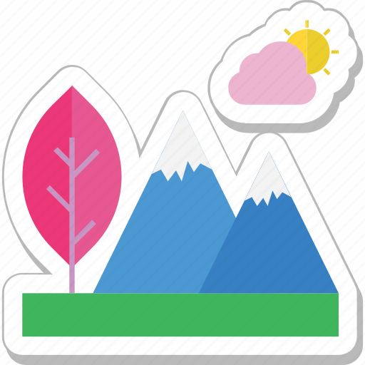 hills, landscape, mountain, nature, peaks icon