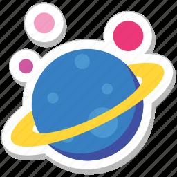 earth, galaxy, orbit, planet, solar system icon