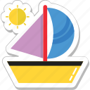 sailboat, ship, transport, travel, yacht icon