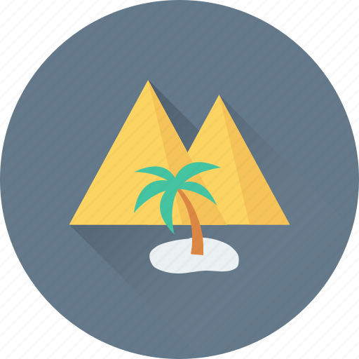 forest, island, mountain, palm, palm tree icon