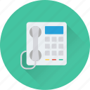 communication, fax, landline, telephone, telephone set icon