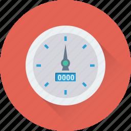 dashboard, fuel meter, odometer, speedometer, tachometer icon