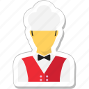 hotel staff, restaurant, services, waiter, waiting staff icon