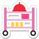 food, food trolley, platter, restaurant, trolley icon