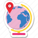 geography, globe, gps, map, table globe icon