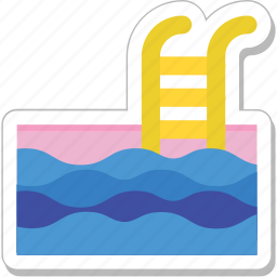 pool, sea, summertime, swimming, swimming pool icon
