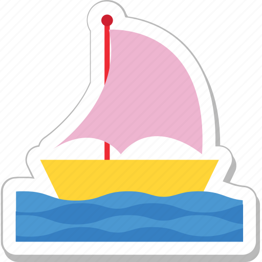 sailboat, ship, transport, travel, yacht icon
