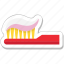 dental, hygiene, oral care, toothbrush, toothpaste icon