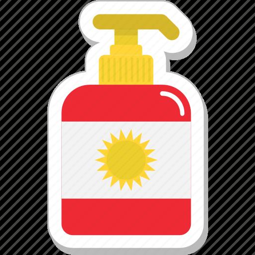 bottle, cosmetics, soap, soap dispenser, sun cream icon