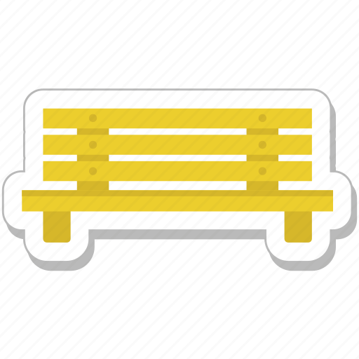 bench, furniture, park, seat, wooden icon