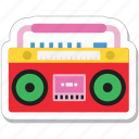 boombox, cassette player, ghetto, stereo, tape recorder icon