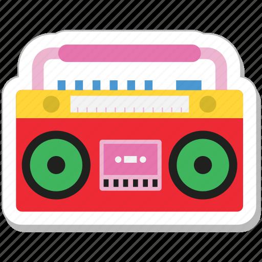 boombox, cassette player, ghetto, stereo, tape recorder icon