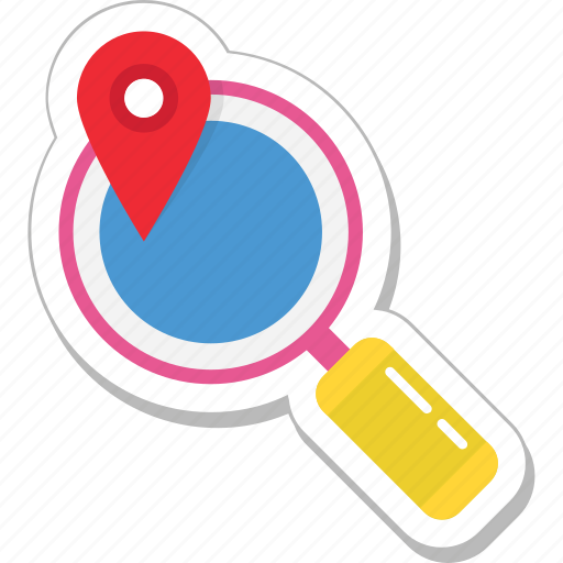 find place, gps, magnifier, navigation, search location icon