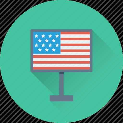 billboard, flag billboard, united state, usa, usa flag icon