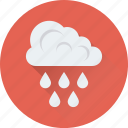 cloud, raindrops, raining, rainy weather, weather icon