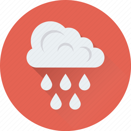Cloud, raindrops, raining, rainy weather, weather icon - Download on Iconfinder