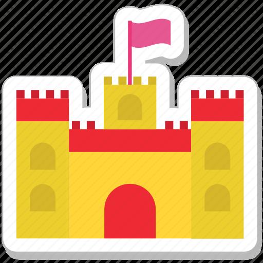 building, castle, fort, medieval, sand castle icon