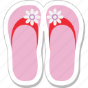 beach, flip flops, footwear, sandals, slippers icon