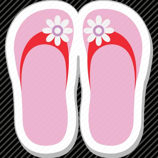 beach, flip flops, footwear, sandals, slippers icon