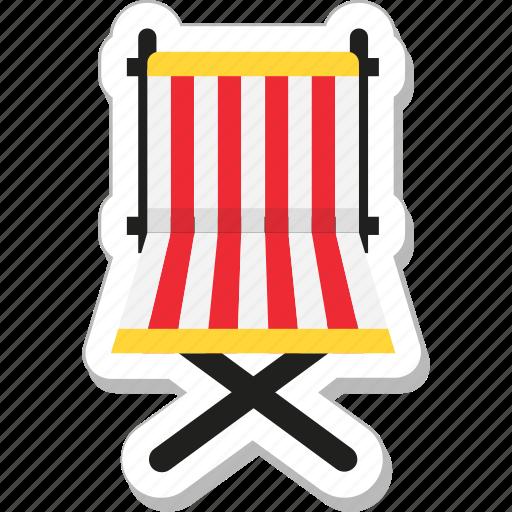 chair, deck chair, furniture, summer, tanning icon
