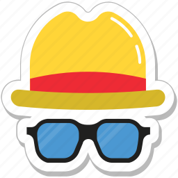 costume, fashion, glasses, hat, hipster icon