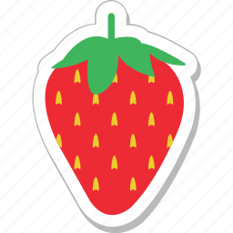 food, fruit, juicy, organic, strawberry icon