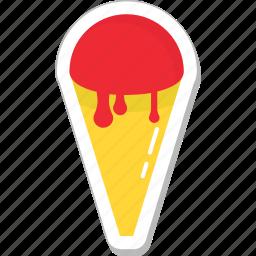 dessert, food, ice cream, ice food, snow cone icon