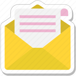 communication, email, inbox, letter, mail icon