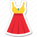 clothing, dress, fashion, party dress, woman dress icon
