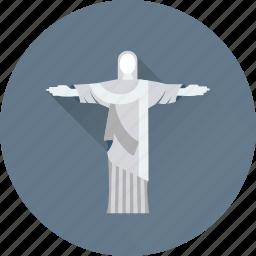 brazil, brazil statue, christ the redeemer, monument, statue monument icon