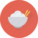 bowl, chinese food, chopsticks, cooking, food icon