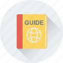 book, guide book, travel, travel guide, travel guidelines icon