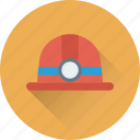 hard hat, mine cap, mine hat, mine helmet, miner hat icon