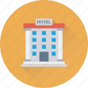 building, hotel, lodge, real estate, tree icon