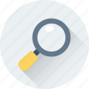 loupe, magnifier, magnifying glass, search, search glass icon