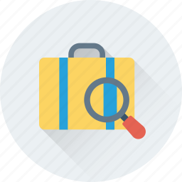 airport, baggage, check, luggage, search luggage icon