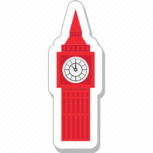 big ben, clock tower, london, monument, tower icon
