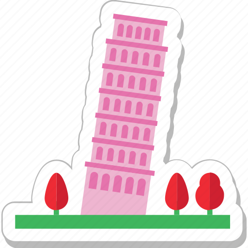 italy, monument, pisa tower, tourism, tower icon