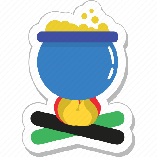 cauldron, cooking, heat, outdoor, soup icon