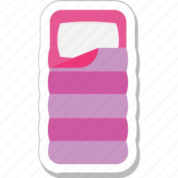 bed, mattress, quilt, rest, sleep icon